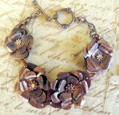Handcrafted Copper Bracelet Fabricated Textured by fitzidesigns, $40.00