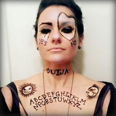 Ouija Board makeup for a Halloween costume! #InMySacredSpace #Ouija #OuijaBoards #Costumes #CostumeIdeas