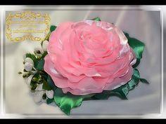 Пышный Цветок из Лент. Ободок для волос / How to make a Lush flower - YouTube