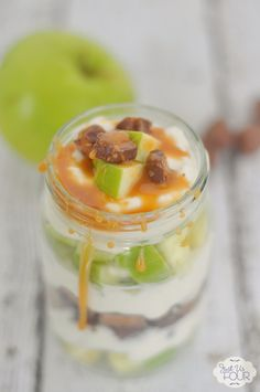 This caramel apple parfait is TO DIE for. Oh my gosh...so delicious.