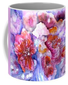 Spring Meadow In Light Coffee Mug featuring the painting Spring Flower Meadow by Sabina Von Arx