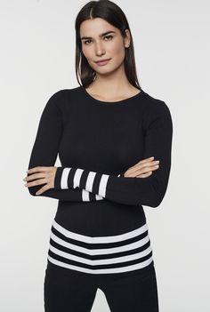 6797c9fe6d0 Stripe Crew Neck Sweater Long Tall Sally