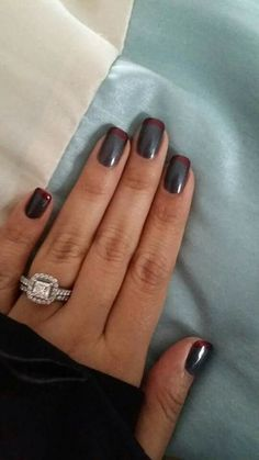 OPI Fifty Shades of Grey and Romantically Red French Manicure!