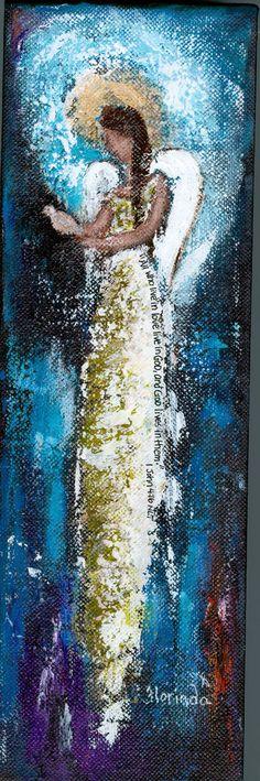 Angel Painting by Florinda www.florinda.etsy.com