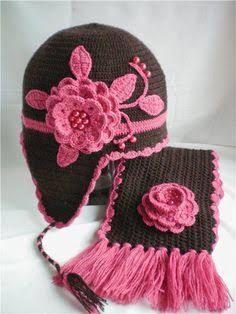 Resultado de imagen para gorros negros a crochet