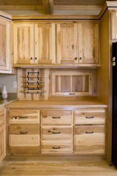 Rockwood log home butler pantry