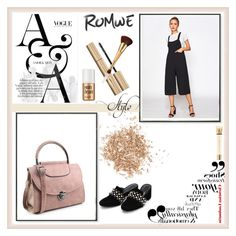 """""""ROMWE 5"""" by umay-cdxc ❤ liked on Polyvore featuring Stila, Yves Saint Laurent, tarte, Benefit and Topshop"""