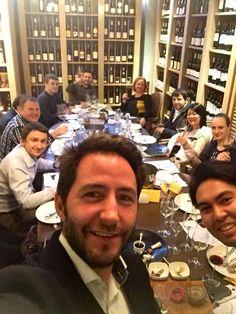 En compañía de buenos amigos. Álvaro Comenge, presentando nuestro mejor #vino en Moscú, Rusia.