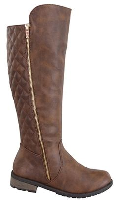 Women's Knee High Stitched Back Dress Riding Heel Boots in Black, Taupe, Brown * Find out more about the great product at the image link.