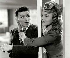 Frank Sinatra and Gloria DeHaven in Step Lively (1944).
