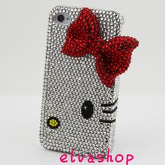 iphone 5 bling casecute cat iphone 4 case iphone 4s by belindashop