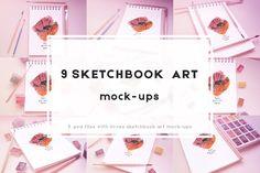 9 Sketchbook mock-ups by KsaniaDesigner's Shop on @creativemarket