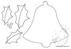 Resultado de imagen para cartamodello campana feltro