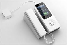 DESK PHONE DOCK | FOR IPHONE - http://www.gadgets-magazine.com/desk-phone-dock-iphone/