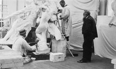French sculptor Auguste Rodin observing work on the Monument to Victor Hugo at the studio of his assistant Henri Lebossé in Auguste Rodin, Musée Rodin, Famous Artists, Great Artists, Rodin Museum, French Sculptor, Workshop, Paris Art, Thing 1
