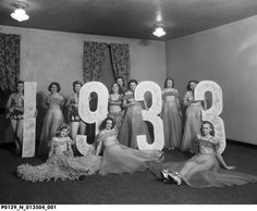 Marlott Dairies Party at Terre Haute House. New Year's Eve party 1933. Terre Haute, Indiana. Sheer gowns!