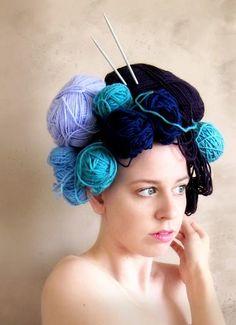 a yarn hair day!a yarn hair day! Crazy Hat Day, Crazy Hats, Kid Braid Styles, Crochet Braid Styles, Hair Styles, Crazy Hair For Kids, Hair Kids, Wacky Hair Days, Fascinator Hats