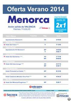 Menorca: Hasta 2x1 hoteles en Menorca salidas desde Valencia ultimo minuto - http://zocotours.com/menorca-hasta-2x1-hoteles-en-menorca-salidas-desde-valencia-ultimo-minuto-2/