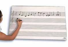 """OVERSIZED MUSIC FLIP CHART - Wire-bound pad of 50 large staff flip charts. Lines are .75"""""""" apart. 22.5"""" x 34.5"""" ."""
