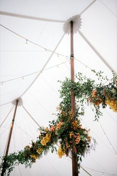 Our Café Lights are a simple and easy way to light up your reception tent! They emit a warm glow that beautifully illuminates added greenery and florals! See more of our café light designs on our website! #WeddingLighting #SimpleWedding #Greenery #WeddingInspiration #WeddingReception #LightingDesign Floral Wedding, Wedding Colors, Wedding Flowers, Sullivans Island South Carolina, Romantic Wedding Receptions, Wedding Day, King Photography, Wedding Flower Inspiration, Event Services