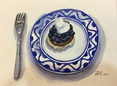 #藍莓派#水彩練習