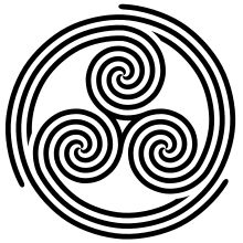 I like this triple spiral, too! Sternum Tattoo, Geometric Sleeve Tattoo, Sleeve Tattoos, Chest Tattoo Stencils, Buffalo Tattoo, Celtic Tattoos For Men, Pagan Symbols, Japanese Tattoo Art, Tattoos