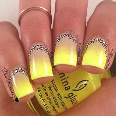 Beautiful nails 2016, Bright summer nails, Color transition nails, Manicure by…
