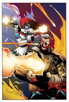 Cable and Mystique by Humberto Ramos, Marte Garcia, and shiprock.deviantart.com on @deviantART