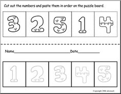 Printables Free Printable Preschool Cut And Paste Worksheets cut and paste numbers 11 15 color the in order on puzzle board dr seuss pinterest pa