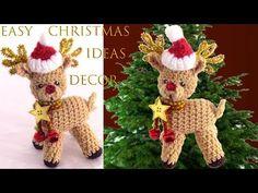 Ideas de Navidad Como hacer a Rodolfo el reno a crochet Easy Christmas i. Christmas Bells, Christmas Items, Christmas Baby, Simple Christmas, Xmas, Christmas Ornaments, Crochet Poncho, Easy Crochet, Decoration