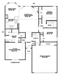1360 square foot House Plan chp-22689 at COOLhouseplans.com