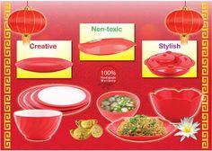 Hadirkan suasana Oriental di rumah Anda dalam menyambut Tahun Baru Imlek 2564, bersama produk Golden Dragon Melamine Ware.