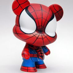 Spider-man custom vinyl art toy by Ducobi