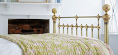 Brass Beds, Bedframes, & Bedsteads – The Cornish Bed Company Bed Company, Brass Bed, Metal Beds, Home Hacks, Bed Frame, Cast Iron, Bedroom, Amp, Furniture