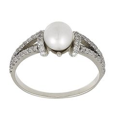 vintage pearl engagement ring