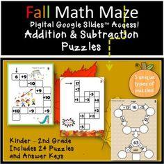 Subtraction Kindergarten, Addition And Subtraction Worksheets, Kindergarten Addition, Math Activities, Teacher Resources, Learning Resources, Teaching Ideas, Thanksgiving Classroom Activities, Autumn Activities
