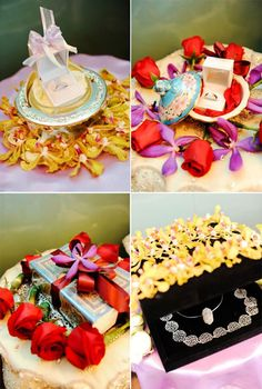 The wedding bands + gifts the bride & groom exchange to each other Malay Wedding, Ever After, Big Day, Bride Groom, Wedding Bands, Gift Wrapping, Happy, Gifts, Beautiful