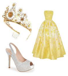 """princess on fleek"" by kingsxvge ❤ liked on Polyvore featuring Dolce&Gabbana, Lauren Lorraine and Naeem Khan"