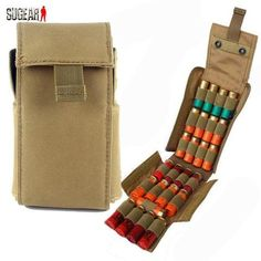 Tactical Combat 25 Round 12GA Shotgun Shell Magazine Pouch Molle System - 2 Color Options - Weekend Tactial Supply