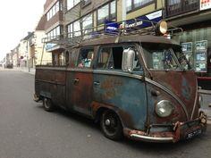 Full rack on vw split double cab Volkswagen Bus, Vw T1, Vw Camper, Campers, Kombi Pick Up, Combi T1, Doka, Combi Split, Cool Vans