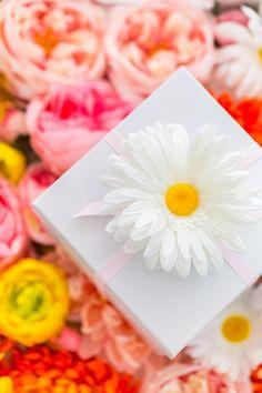 DIY Faux Flower Gift Topper Stickers | Sugar & Cloth