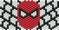 Spiderman Pony Bead Patterns   Characters Kandi Patterns for Kandi Cuffs - visit to grab an unforgettable cool 3D Super Hero T-Shirt!