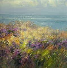 Rex PRESTON - Clifftop Heather, Cape Cornwall
