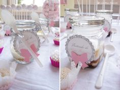 details of the tags for this doll house themed party