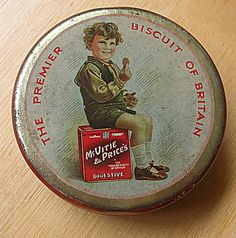 british bisquits | Mc Vitie biscuit tin - Old collectable English biscuit tin