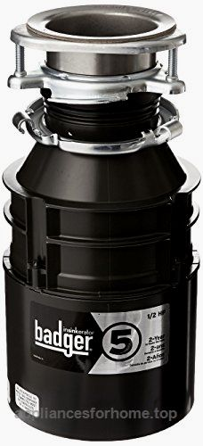 InSinkErator Badger 5 Garbage Disposal with Power Cord, 1/2 HP Check It Out Now     $109.00    This garbage disposal provides dependable performance at a moderate price. Its galvanized steel rotating shredder in ..  http://www.appliancesforhome.top/2017/03/30/insinkerator-badger-5-garbage-disposal-with-power-cord-12-hp-2/