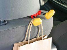 Mickey Mouse Legs Headrest Bag Hanger