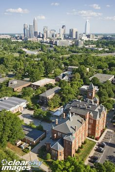 Johnson C. Smith JCSU University with Charlotte, NC skyline in the background  (Where Madison Rose went to college)