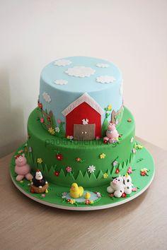Fazendinha 2nd Birthday Cake Boy, Birthday Sheet Cakes, Farm Birthday, Birthday Party Themes, Novelty Cakes, Cakes For Boys, Piece Of Cakes, Chocolate Cake, First Birthdays