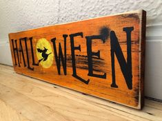 SHOP NOW! Excited to share this item from my #etsy shop: Halloween Decor | Halloween Sign | Halloween Decoration | Halloween | Wood Sign | Rustic Signs | Fall Decor | Fall Sign | Rustic Halloween